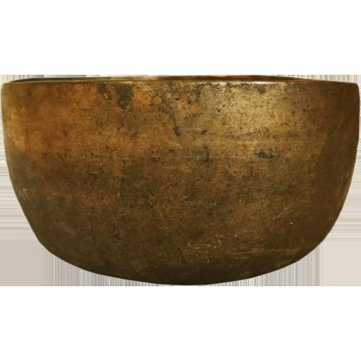 Кованая тибетская поющая чаша, тадобати, 17 см (YM83-142)