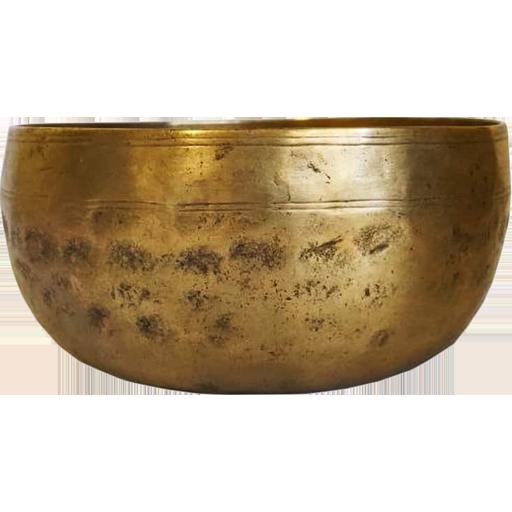 Кованая тибетская поющая чаша, тадобати, 14 см (YM83-144)